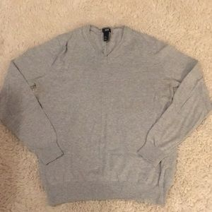 H&M gray v-neck sweater medium